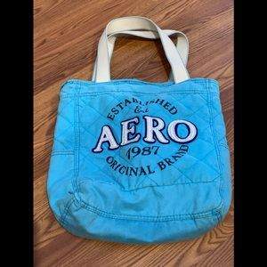 Womens Aero Blue Tote Bag Canvas